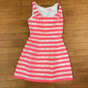 Lilly Pulitzer Pink White Stripe Floral dress